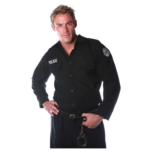 Men's Police Shirt Costume - image 1 of 1