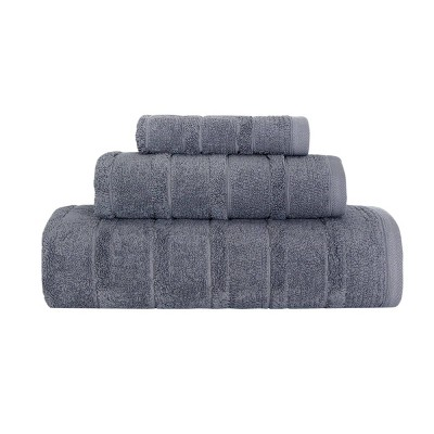 3pc Carel Luxury Fancy Towel Set Gray - Royal Turkish Towels