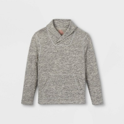 Boys' Adaptive Abdominal Access Pullover Sweatshirt - Cat & Jack™ Heather Gray
