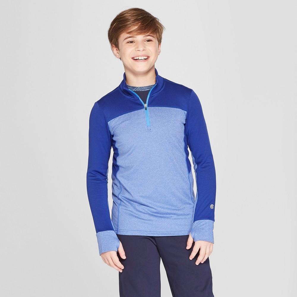 Boys' 1/4 Zip Pullover - C9 Champion Blue Heather XL, Heather Blue