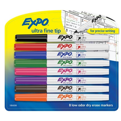 8pk Dry Erase Marker Ultra Fine Tip Multicolor - Expo
