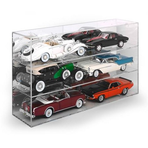 6 Car Acrylic Display Show Case for 1/18 Scale Models by Autoworld