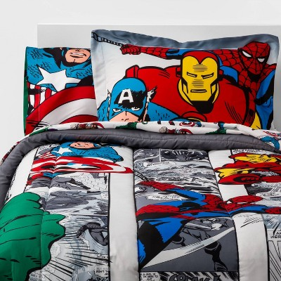 Twin Marvel Avengers Comic Cool Bed in a Bag