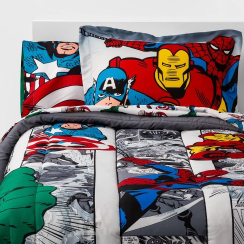 Twin Marvel Avengers Comic Cool Bed In A Bag : Target