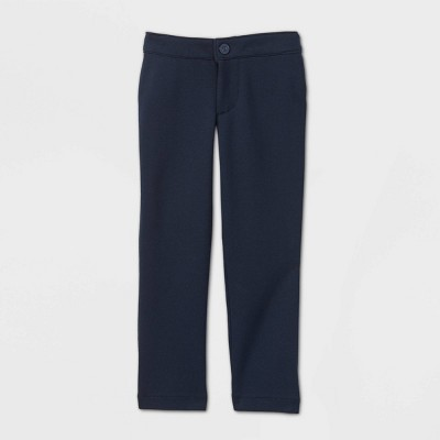 Toddler Girls' Stretch Uniform Ponte Pants - Cat & Jack™ Blue
