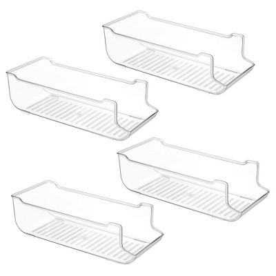 mDesign Pop/Soda Can Storage Dispenser Bin for Fridge, Pantry, 4 Pack