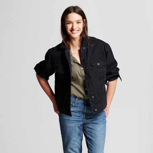 20c6367a497 Women s Denim Jacket - Universal Thread™ Black Wash   Target