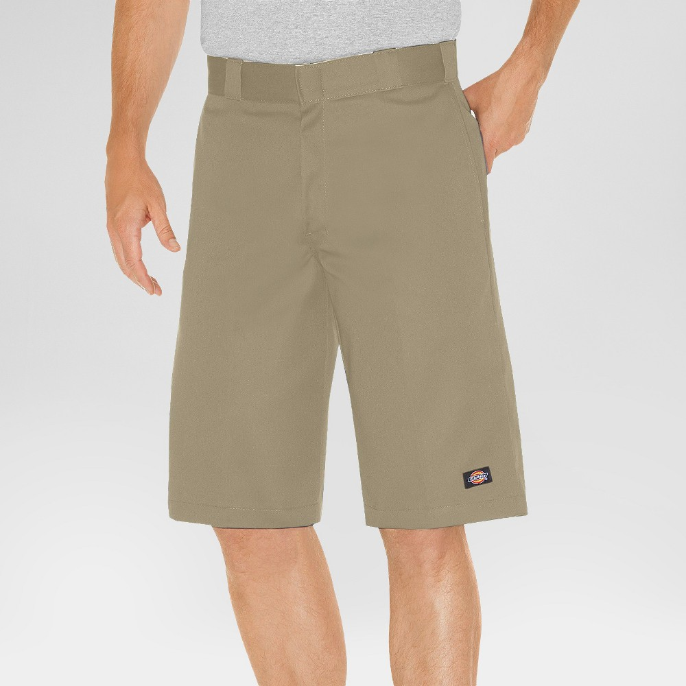 Dickies Men's Relaxed Fit Twill 13 Multi-Pocket Work Shorts- Khaki (Green) 36
