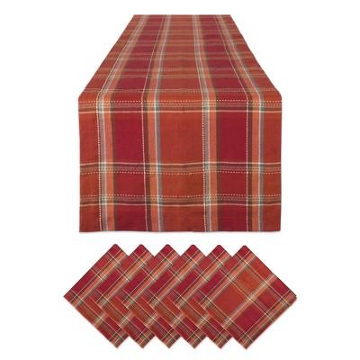 Autumn Farmhouse Plaid Table Set - Design Imports