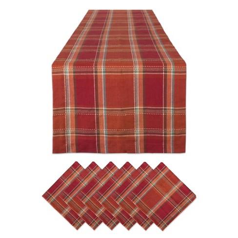 Autumn Farmhouse Plaid Table Set - Design Imports - image 1 of 4