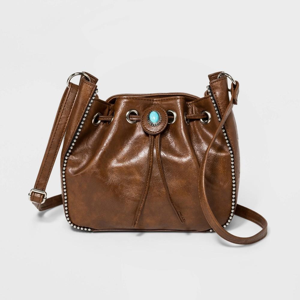 Image of Bueno Drawstring Bucket Bag - Tan, Brown