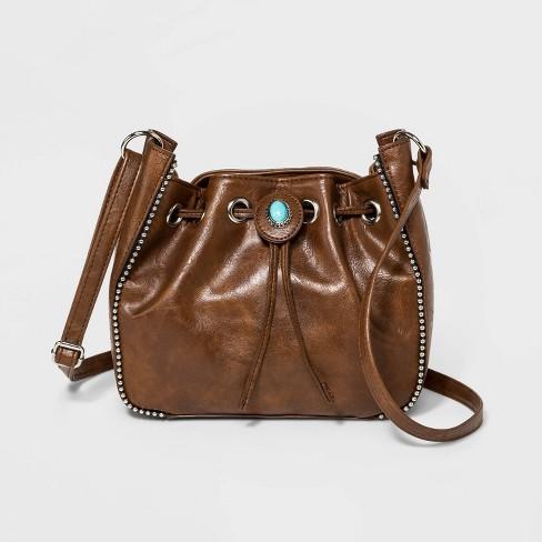 Bueno Drawstring Bucket Bag - Tan - image 1 of 3