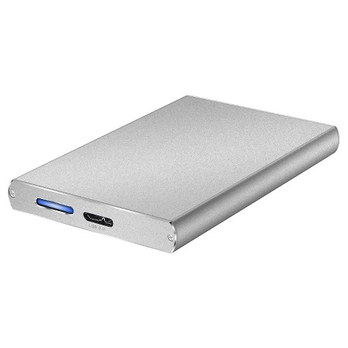 Macally Ultra Slim Aluminum External Hard Drive for USB 3.0 to 2.5 SATA - Silver (M-S250U3) - image 1 of 4