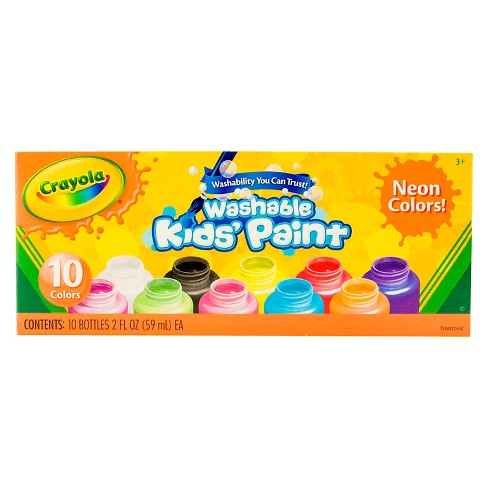 Crayola® Kids' Paint Washable 10ct 2oz Neon Colors - image 1 of 3
