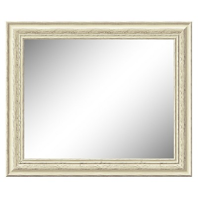"""20"""" x 24"""" Country White Wash Framed Wall Mirror - Amanti Art"""