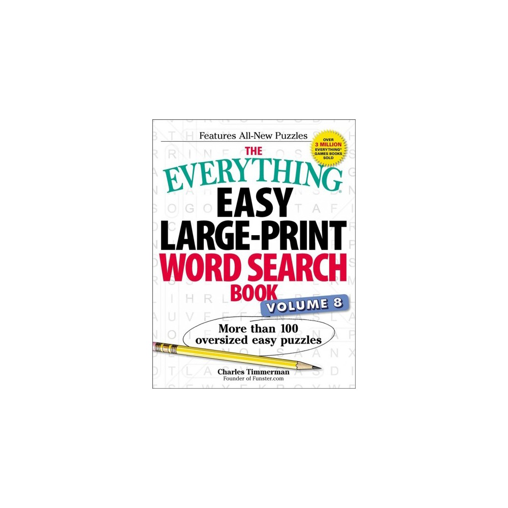 Everything Easy Word Search Book : More Than 100 Oversized Easy Puzzles - Lrg (Paperback)
