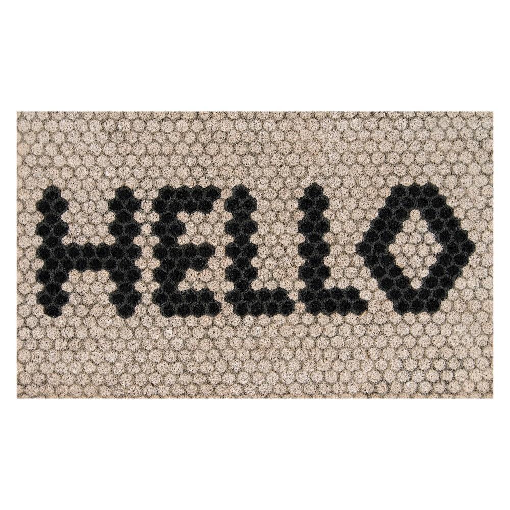 Mosaic Design Woven Door Mat Ivory