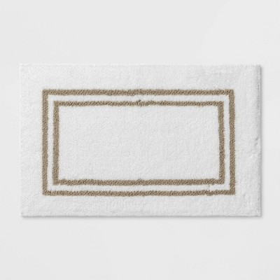 "21""x34"" Border Bath Rug Birch Stripe - Threshold Signature™"