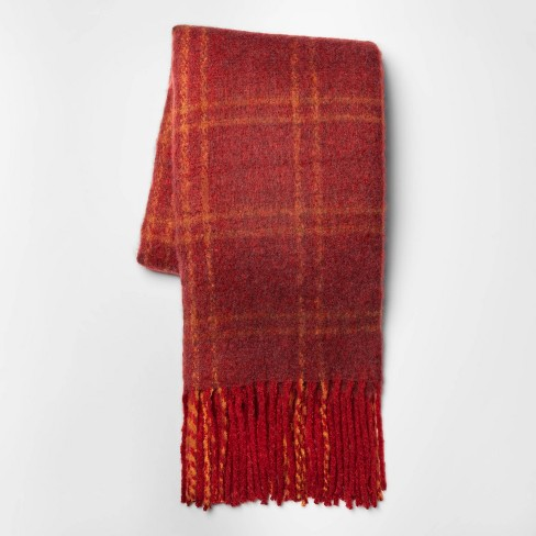Faux Mohair Grid Throw Blanket - Threshold™ - image 1 of 4