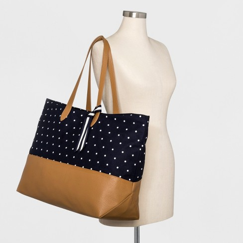 19afdeaeee10 Canvas Striped Oversized Tote Handbag - A New Day™   Target