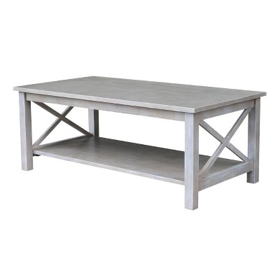 Hampton Coffee Table Washed Gray/Taupe - International Concepts