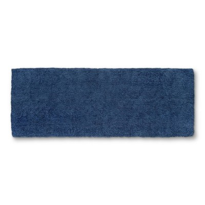 "60""x22"" Tufted Spa Bath Runner Metallic Blue - Fieldcrest®"