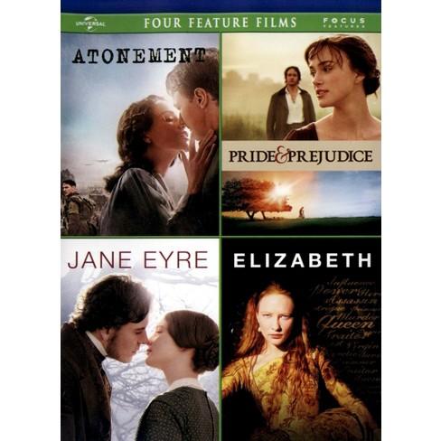 Atonement/Pride and Prejudice/Jane Eyre/Elizabeth (4 Discs) (DVD) - image 1 of 1