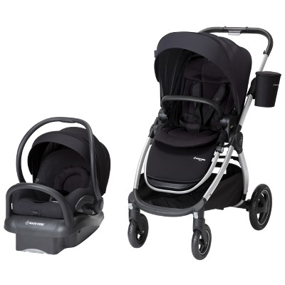 Maxi-Cosi Adorra All-in-One Modular Travel System with Mico Max 30 Infant Car Seat, Night Black