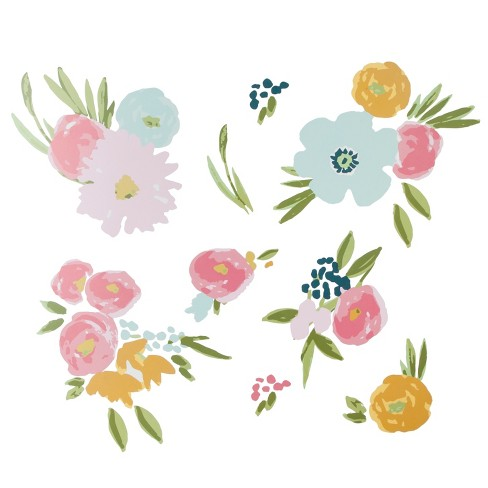 Wall Decal Floral 9pc Cloud Island Pink