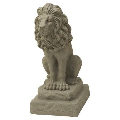 "Emsco28.13"" Resin Lion Statuary"