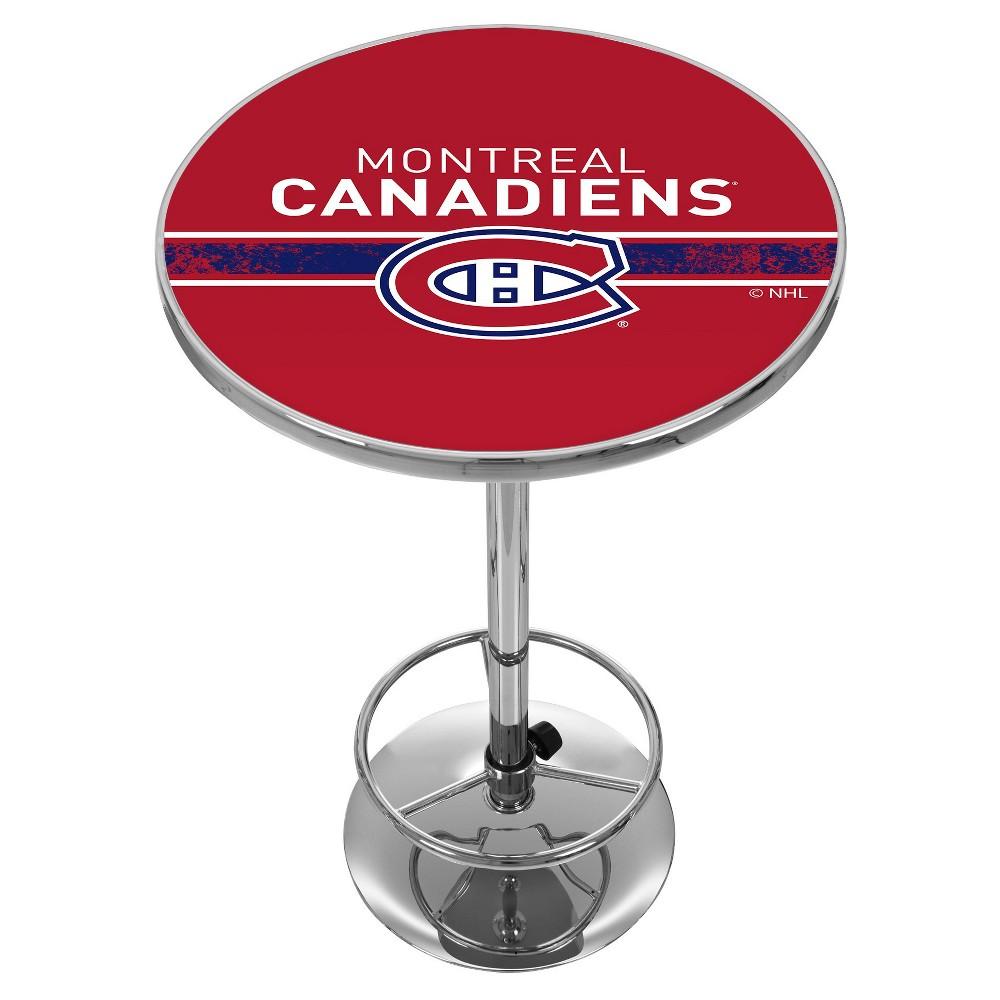 NHL Montreal Canadiens Chrome Pub Table