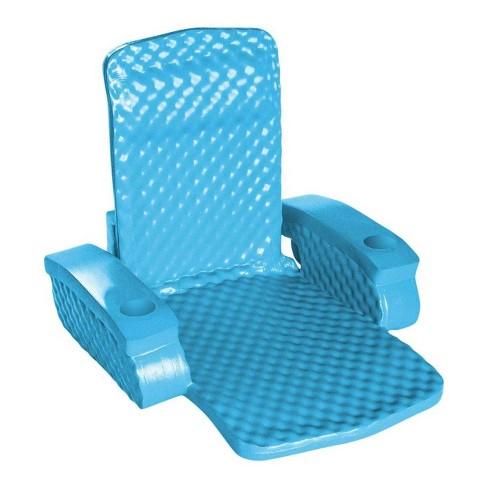 TRC Recreation Super Soft Baja Durable Adult Chair Swimming Pool Float, Blue