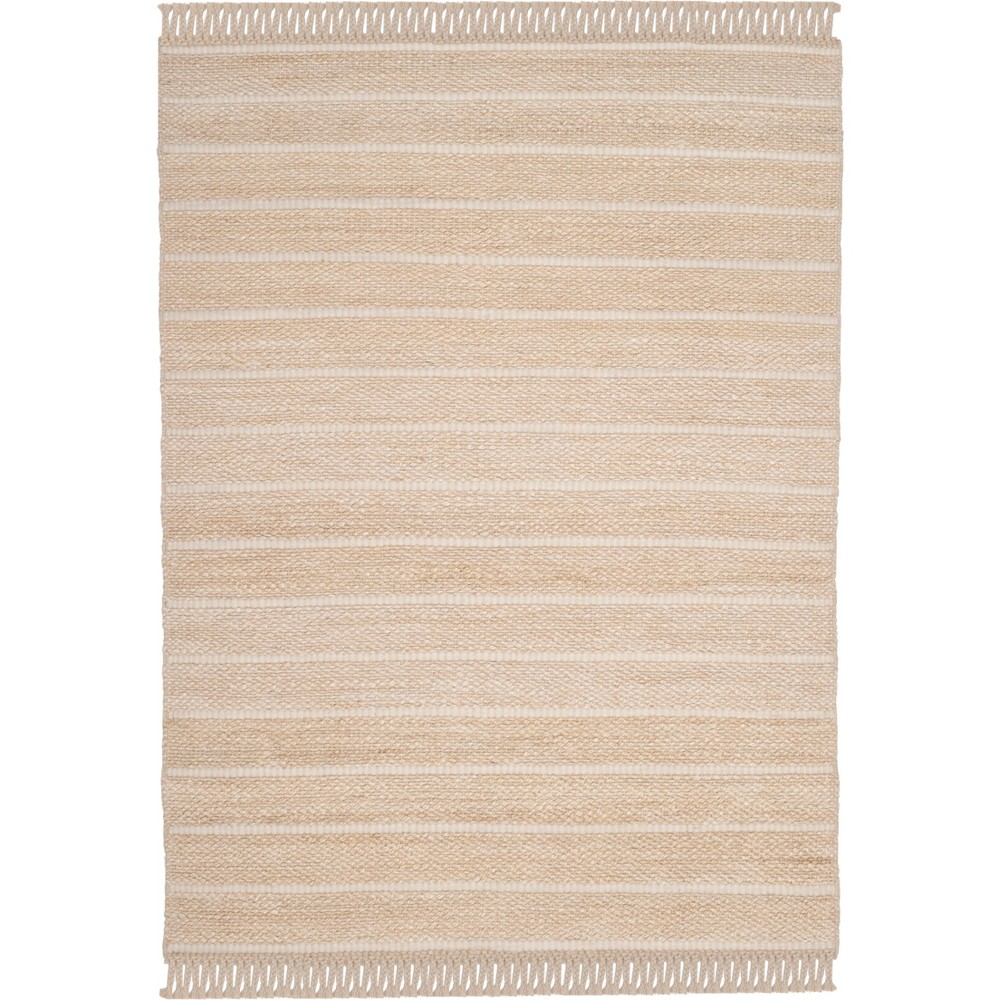 8'X10' Solid Woven Area Rug Ivory - Safavieh