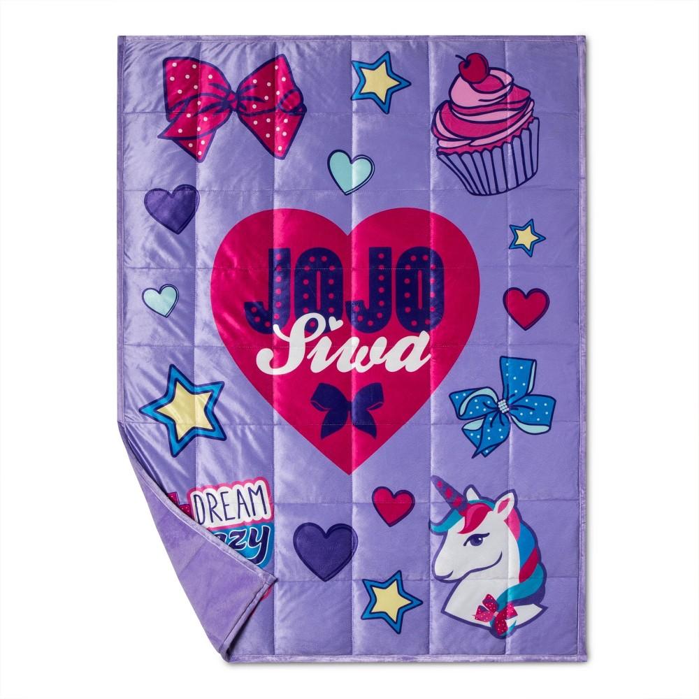 Image of JoJo Siwa Dream Crazy Big Weighted Blanket Purple/Pink