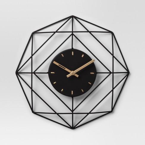 Decorative clock - Black - Project 62™ - image 1 of 3