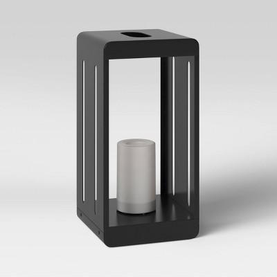 "7"" x 14"" Metal Outdoor Lantern Black - Project 62™"