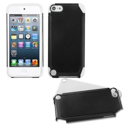 MYBAT For Apple iPod Touch 5th Gen/6th Gen Black White Fusion Hard Hybrid Case