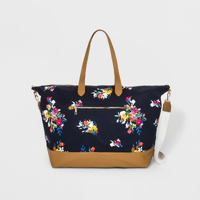 Floral Canvas Weekender Bag - A New Day™ Navy
