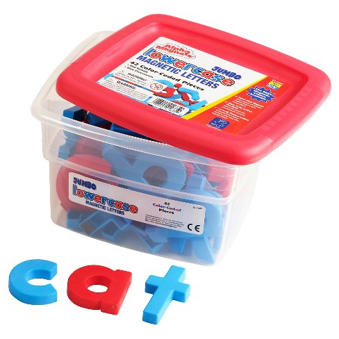 Educational Insights Alpha Magnets - Jumbo Color-Coded Lowercase (42pc) - image 1 of 2
