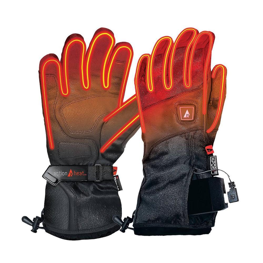 Image of ActionHeat 5V Battery Heated Men's Premium Gloves - Black L, Men's, Size: Large