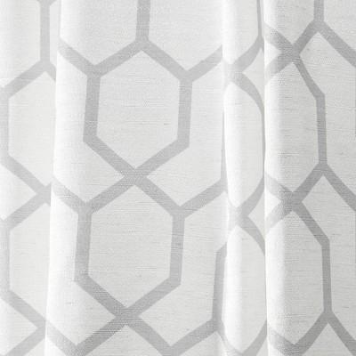 "Set of 2 (108""x54"") Nicole Miller Hexa Geometric Print Hidden Tab Top Curtain Panels - Nicole Miller"
