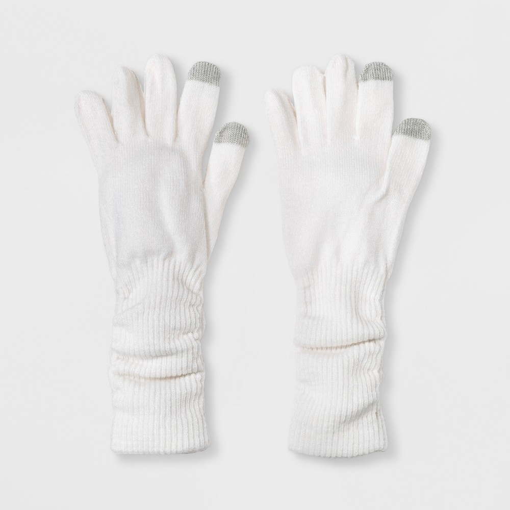 Women's Slouch Tech Touch Gloves - A New Day Cream (Ivory)