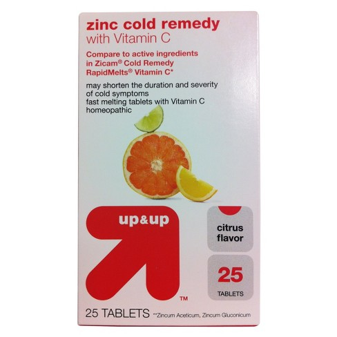 Zinc Cold Remedy With Vitamin C Tablets Citrus Target