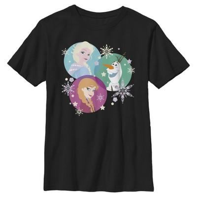 Boy's Frozen Character Snowflakes T-Shirt