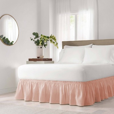 Wrap Around Solid Ruffled Bed Skirt - EasyFit™