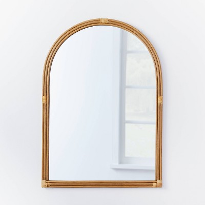 """24"""" x 34"""" Rattan Arched Wall Mirror - Threshold™ designed with Studio McGee"""