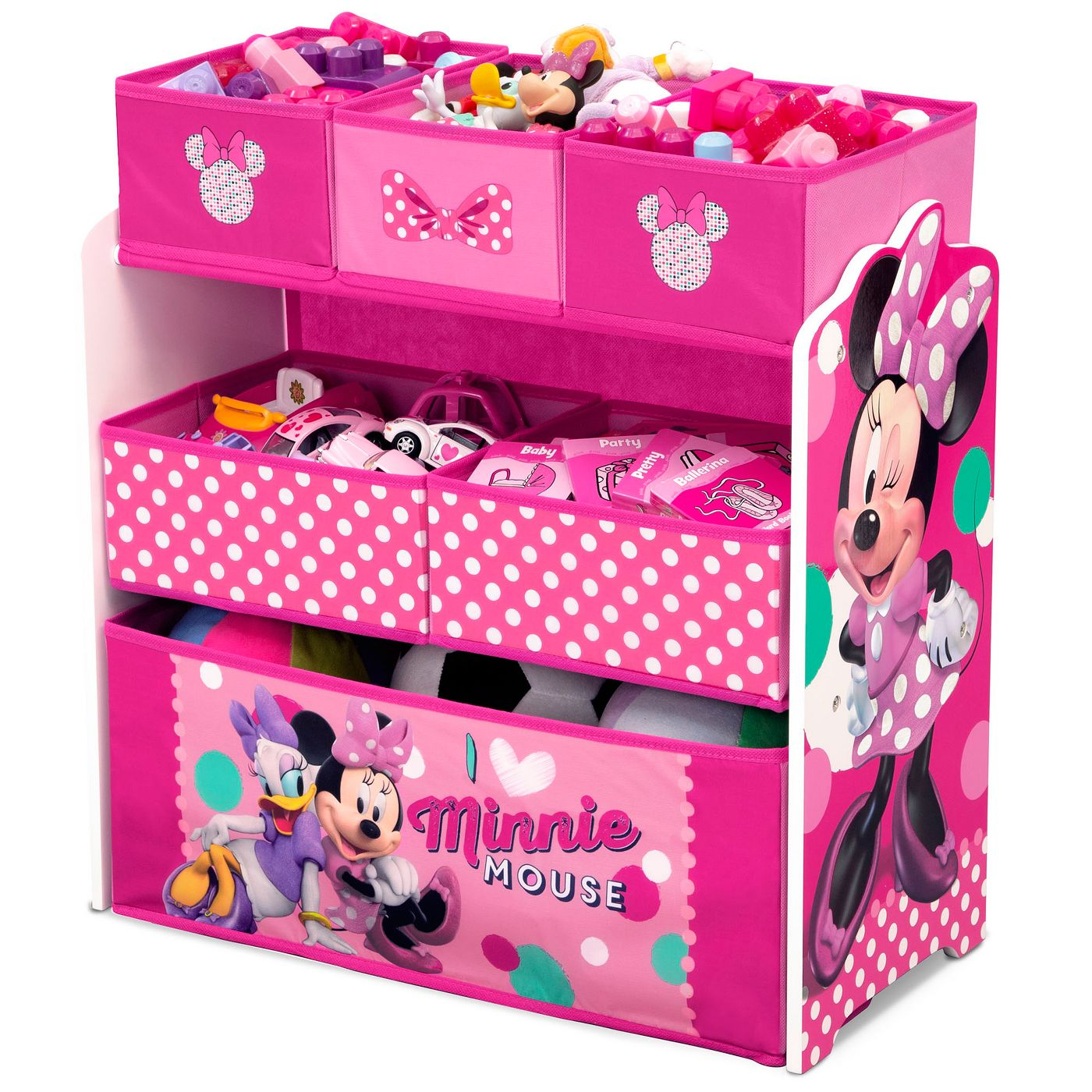 Disney Minnie Mouse Kids Multi-Bin Toy Organizer