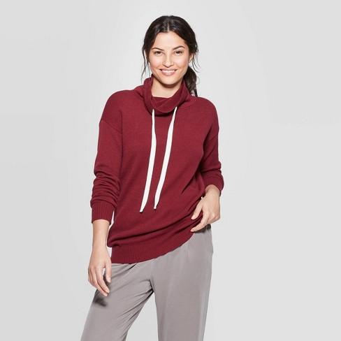 Women's Long Sleeve Rib-Knit Cuff Cowl Neck Sweatershirt - A New Day™ - image 1 of 3