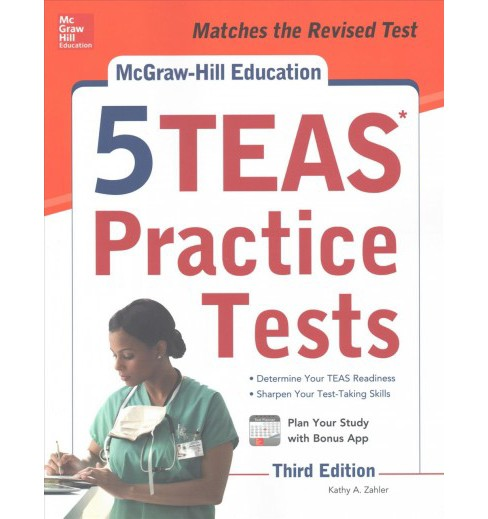 McGraw-Hill Education 5 TEAS Practice Tests (Paperback) (Kathy A. Zahler & Wendy Hanks) - image 1 of 1