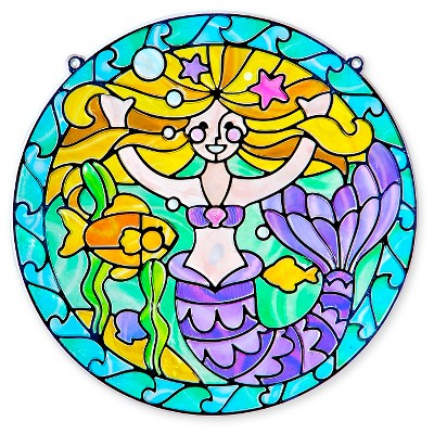 Melissa & Doug® Stained Glass Made Easy Activity Kit: Mermaids   140+ Stickers by 140+ Stickers